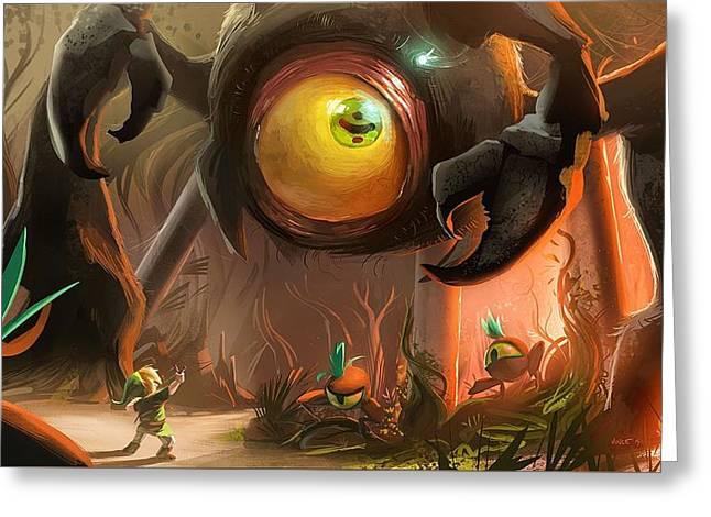 155927 Artwork The Legend Of Zelda The Legend Of Zelda Ocarina Of Time Greeting Card