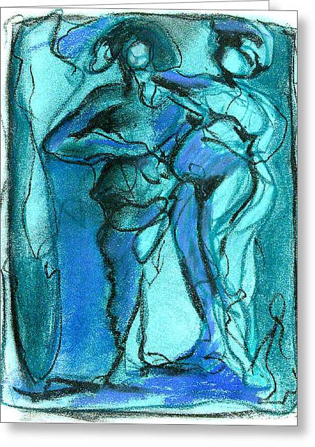 Greeting Card featuring the pastel . by James Lanigan Thompson MFA