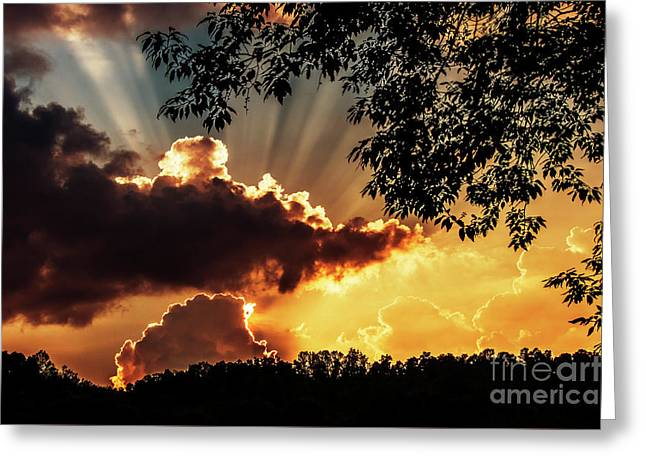 Greeting Card featuring the photograph Appalachian Sunset by Thomas R Fletcher