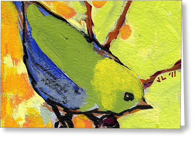 Sparrow Paintings Greeting Cards - 16 Birds No 2 Greeting Card by Jennifer Lommers