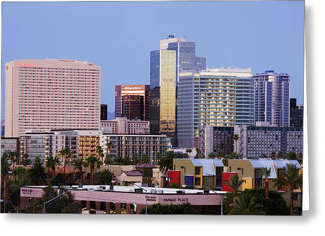 Phoenix Architecture Greeting Cards - City Skyline Greeting Card by Jeremy Woodhouse