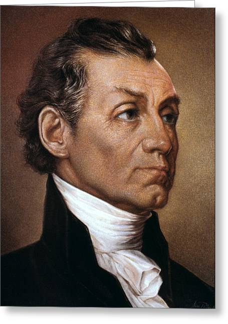 Republican Greeting Cards - James Monroe (1758-1831) Greeting Card by Granger