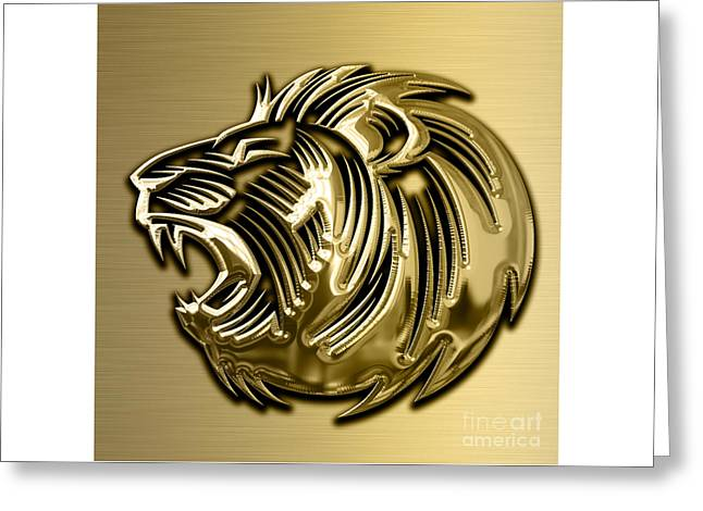 Lion Collection Greeting Card by Marvin Blaine