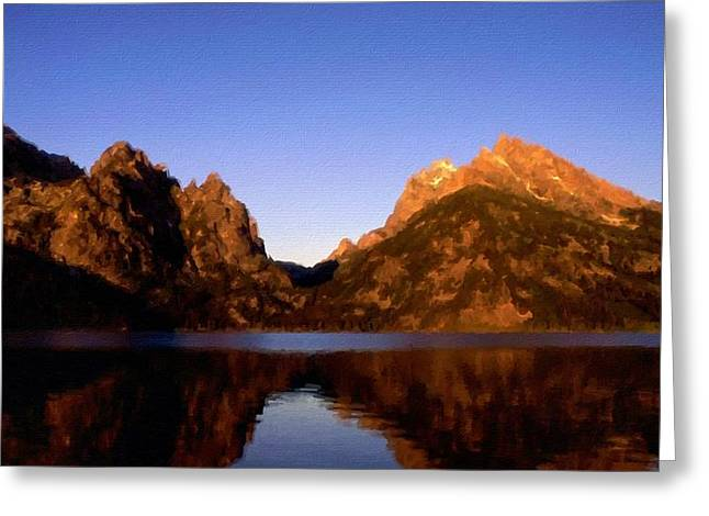 Oil Painting Landscape Pictures Greeting Card by Victoria Landscapes