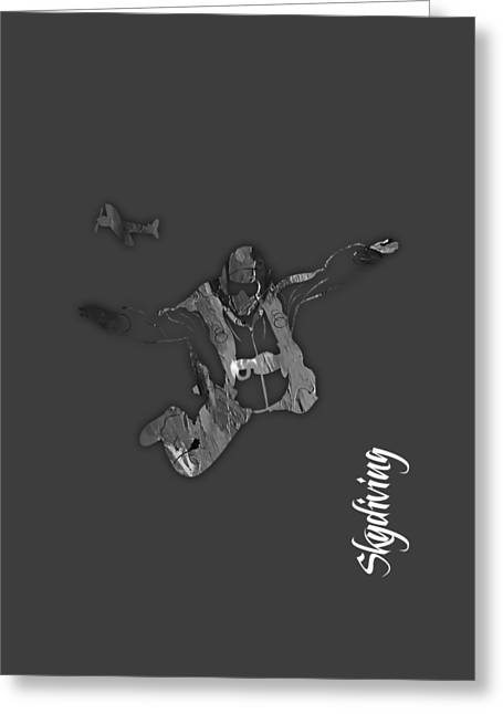 Skydiving Collection Greeting Card