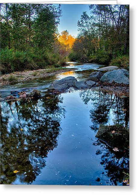 Stone Mountain North Carolina Scenery During Autumn Season Greeting Card