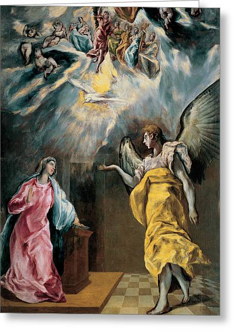 The Annunciation  Greeting Card by El Greco