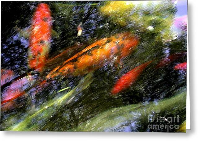 The Koi Pond Greeting Card by Marc Bittan