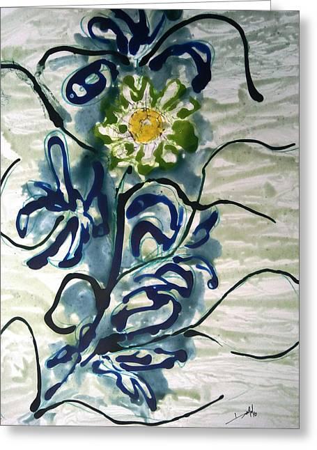 Divine Flowers Greeting Card by Baljit Chadha