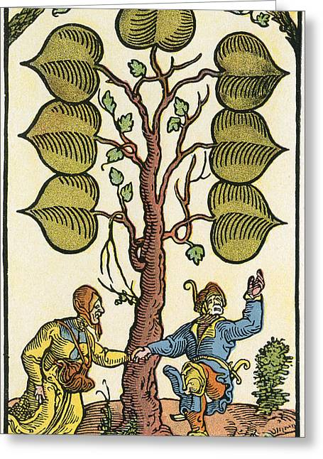 16th Century German Playing Card. From Greeting Card