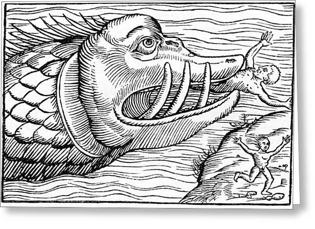 16th Century Woodcut Print Greeting Card