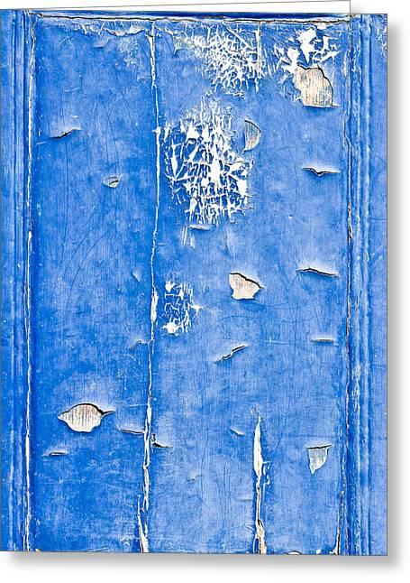 Blue Wood  Greeting Card