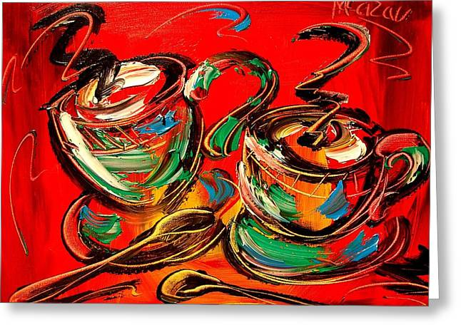 Coffee Greeting Card by Mark Kazav