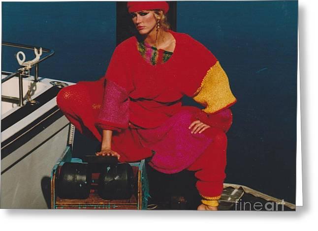 Fashion Model Greeting Card by Mia Alexander
