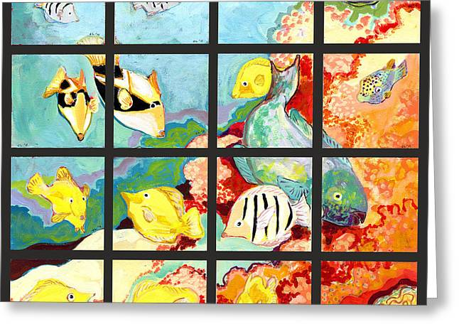 17 Fish Greeting Card by Jennifer Lommers