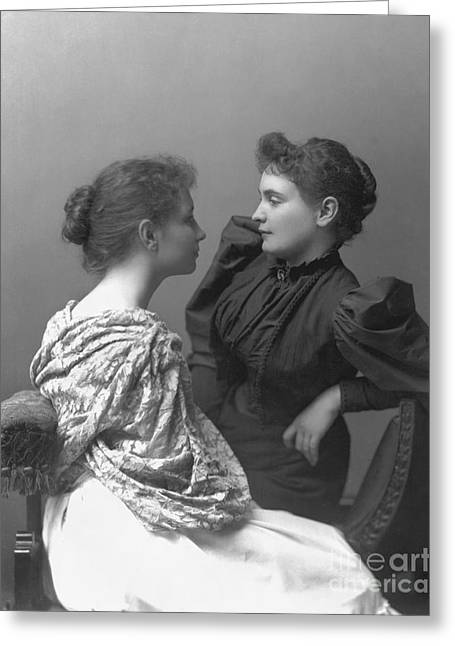 Helen Adams Keller Greeting Card by Granger