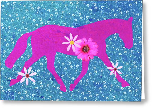 Spring Lengthen Trot  Greeting Card by JAMART Photography