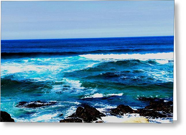 Beach Photograph Pyrography Greeting Cards - 17 Mile Drive - Pebble Beach CA Greeting Card by Fareeha Khawaja