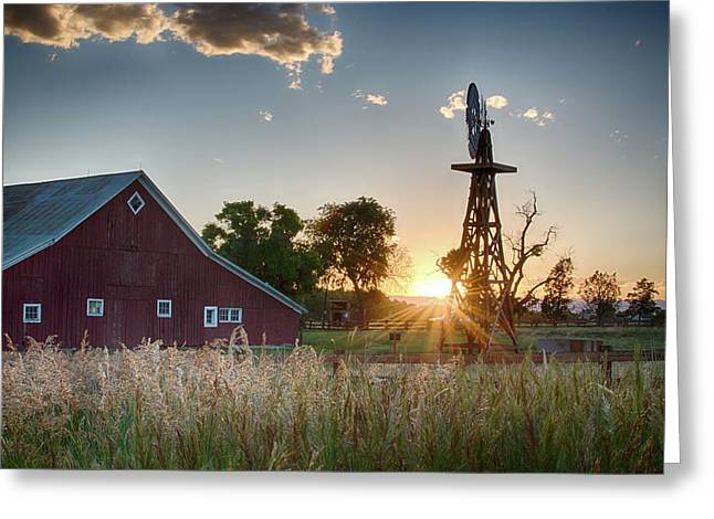 17 Mile House Farm - Sunset Greeting Card