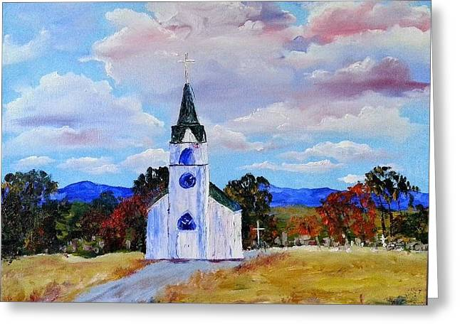 #17 St. Johns Historic Church On Hwy 69 Greeting Card