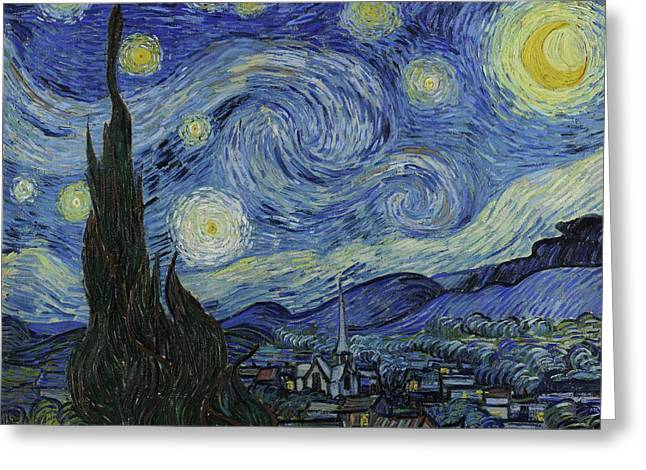 Starry Night  Greeting Card by Vincent van Gogh