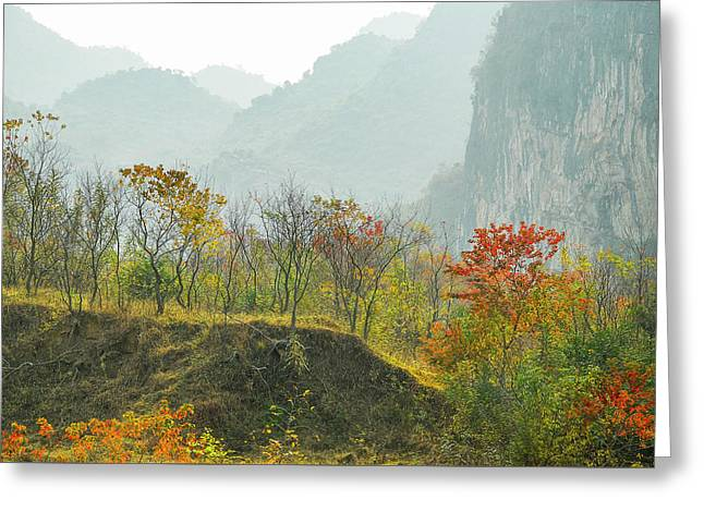 The Colorful Autumn Scenery Greeting Card