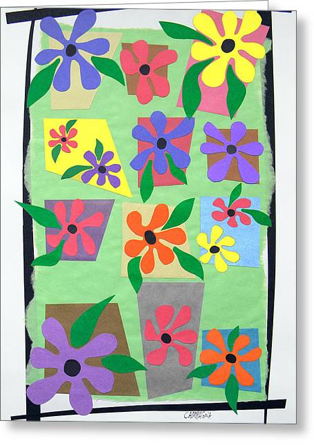 Greeting Card featuring the tapestry - textile Untitled by Teddy Campagna