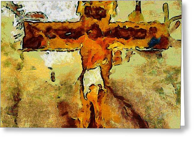 Jesus Christ - Religious Art Greeting Card by Elena Kosvincheva
