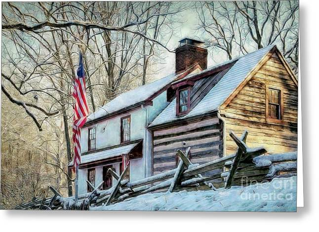 1700's Log House In West Chester, Pa Greeting Card