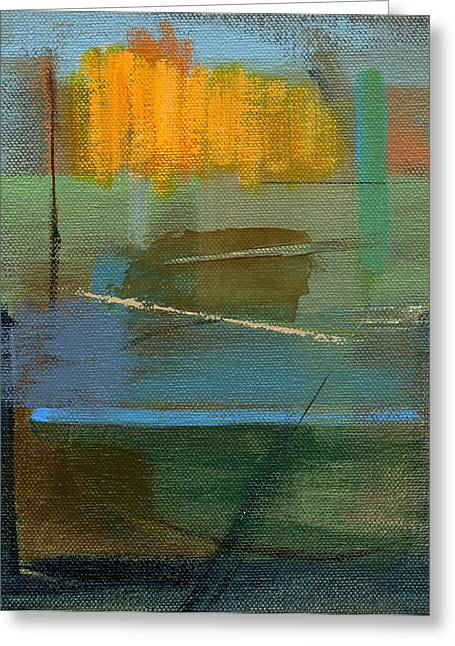 Yellow Abstract Art Greeting Cards - RCNpaintings.com Greeting Card by Chris N Rohrbach