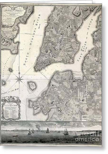 1766 Map Of New York City Greeting Card