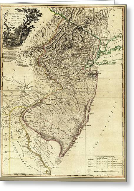1778 Nj Map Greeting Card by Mark Miller