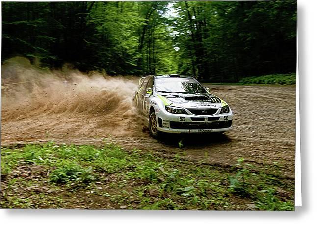 17874 Subaru Rally Impreza Wrx Sti Greeting Card