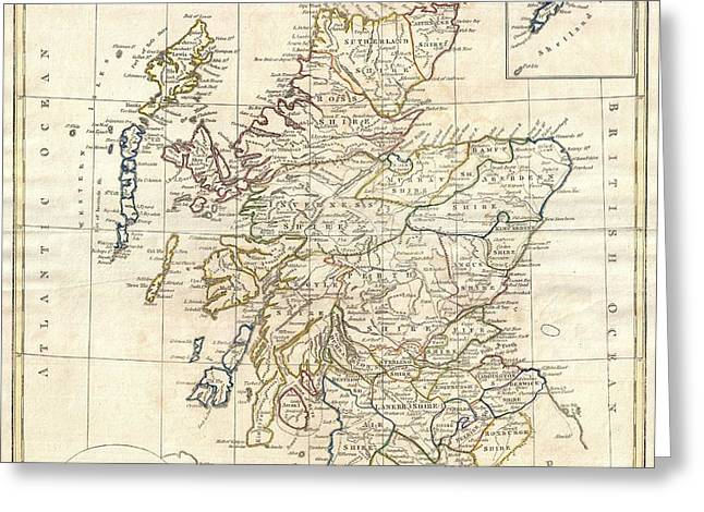 1799 Scotland Map Greeting Card