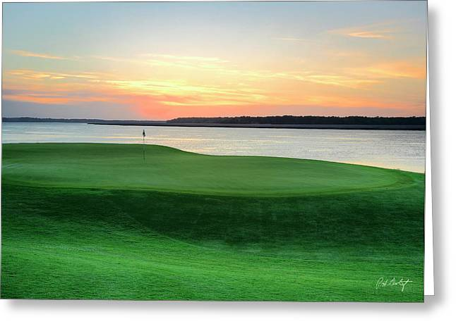 17th At Dusk Greeting Card by Phill Doherty