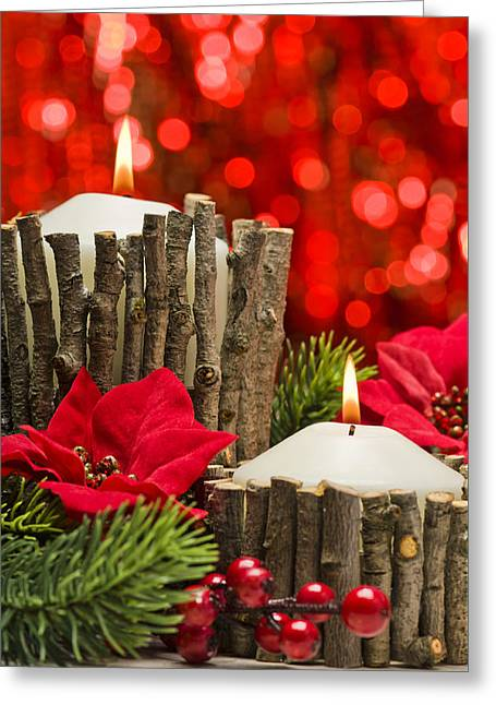 Greeting Card featuring the photograph Autumn Candles by Ulrich Schade