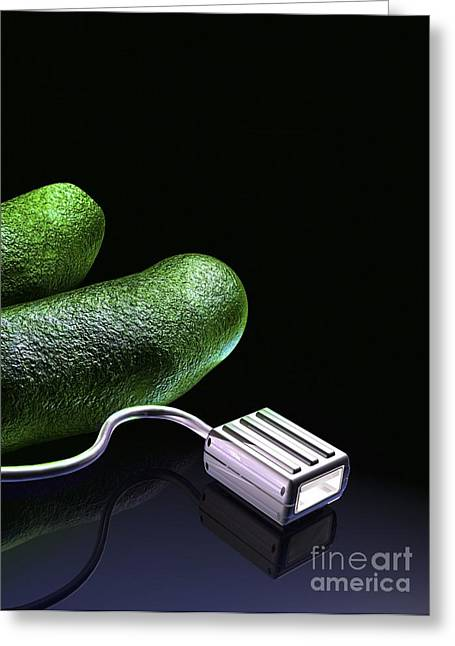 Bacterial Computing, Conceptual Artwork Greeting Card by Victor Habbick Visions