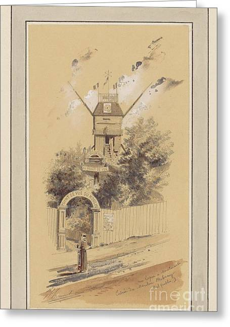 Drawn To Paris  Greeting Card by Celestial Images