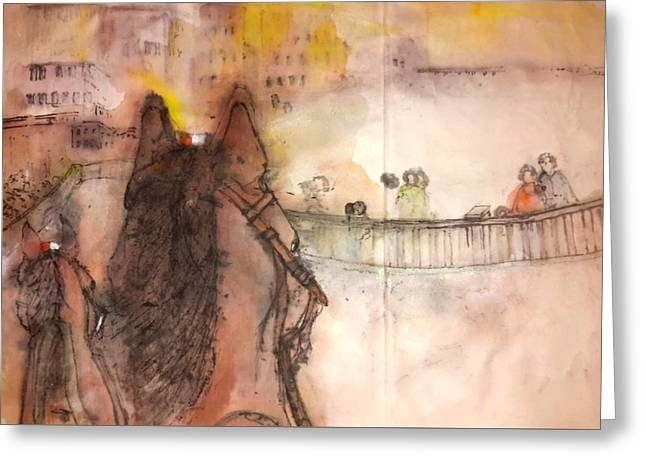 Il Palio Story Album Greeting Card by Debbi Saccomanno Chan