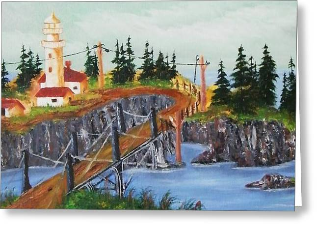 Lighthouse Greeting Card by Larry Doyle