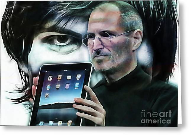 Steve Jobs Collection Greeting Card
