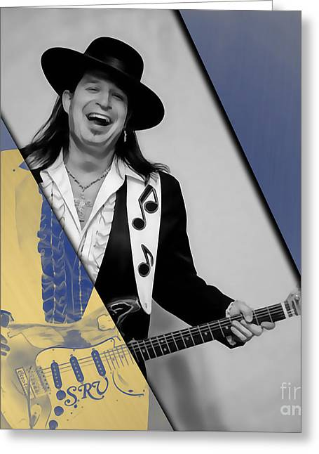 Stevie Ray Vaughan Collection Greeting Card by Marvin Blaine