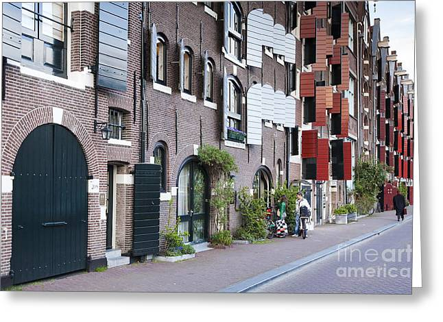 Streets Of Amsterdam Greeting Card by Andre Goncalves