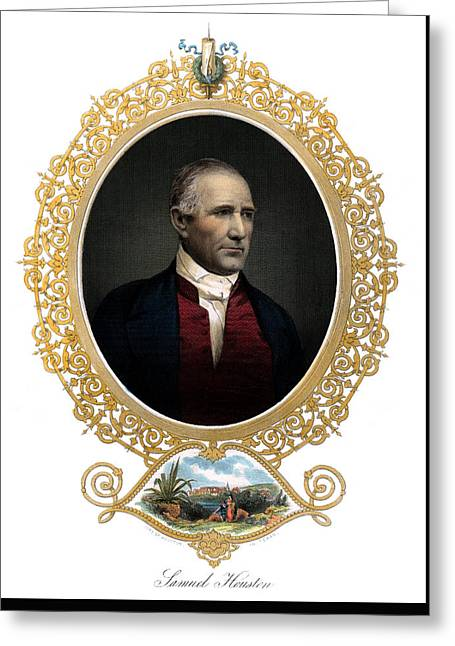 1850 Sam Houston  Greeting Card by Historic Image