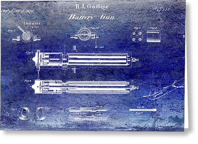 1865 Gatling Gun Patent Greeting Card by Jon Neidert