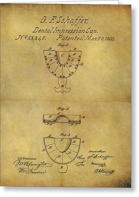 1866 Dental Mold Patent Greeting Card by Dan Sproul