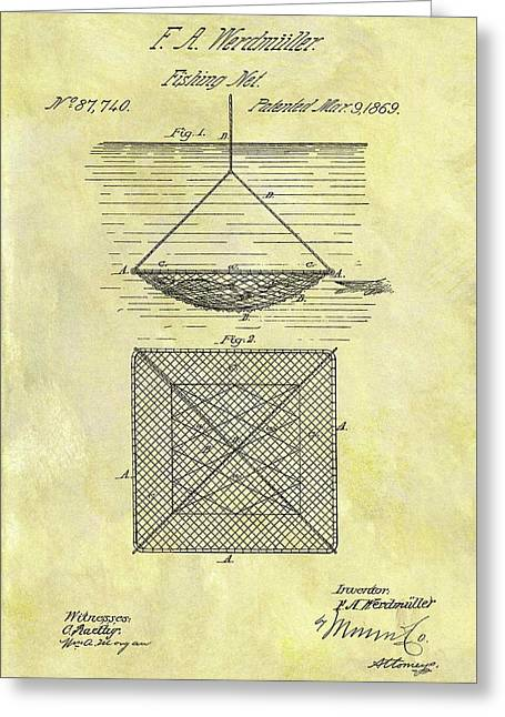 1869 Fishing Net Patent Greeting Card
