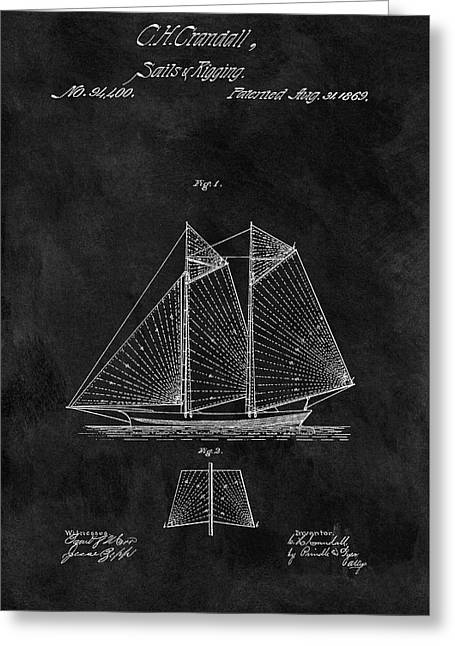 1869 Sailing Vessel Patent Greeting Card