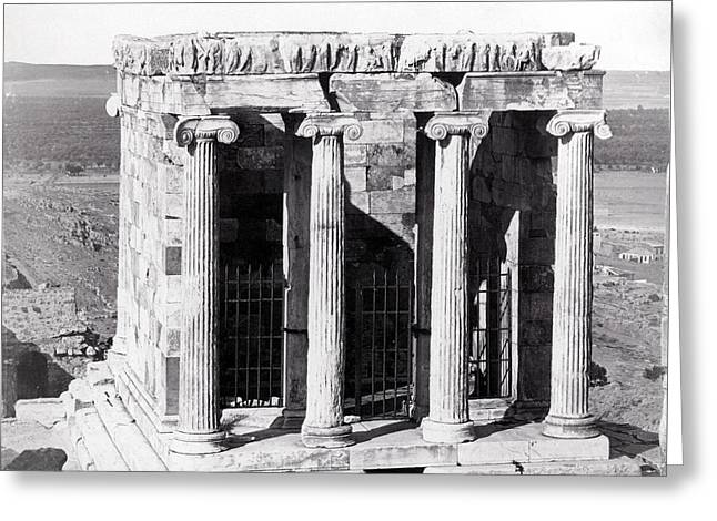 1870 Temple Of Athena Nike, Athens Greeting Card by Historic Image