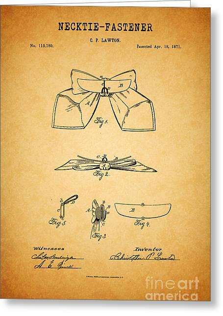 1871 Necktie Fastener 1 Greeting Card